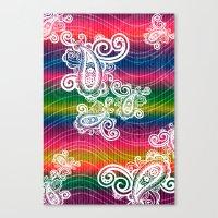Paisley Wave Dream Canvas Print