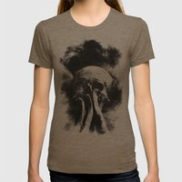 Once Were Warriors IV. Womens Fitted Tee Tri-Coffee SMALL