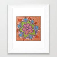 Drops And Petals 4 Framed Art Print
