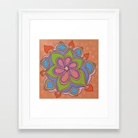 Drops and Petals 4 Framed Art Print