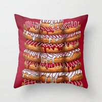 Donuts IV 'Merry Christmas' Throw Pillow