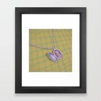 Memories. Question series Framed Art Print