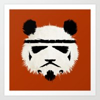 Panda Trooper Art Print