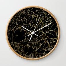 Hide (Gold) Wall Clock