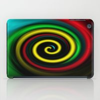Swirling colours. iPad Case