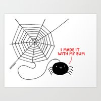 Spiders Have all the Fun Art Print