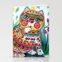 magic spring cat Stationery Cards