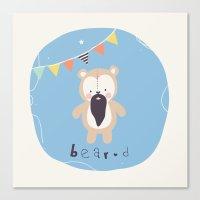 Barry Bear Canvas Print