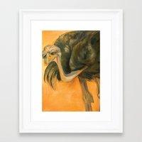 Ostriches Are Not Awkward Framed Art Print