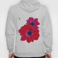 Velvet Red Poppy Anemone… Hoody