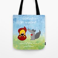 Little Red Riding Hood & Lovely Wolf ♥ Tote Bag