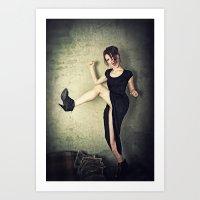 Kick It! Art Print