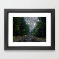 Train Tracks Dream Framed Art Print