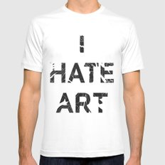 I HATE ART / PAINT Mens Fitted Tee White SMALL