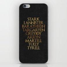 GoT Family Names iPhone & iPod Skin