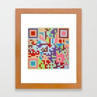 Number Two Multicolour  Framed Art Print