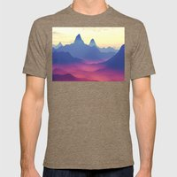 Mountains of Another World Mens Fitted Tee Tri-Coffee SMALL