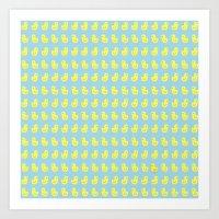 Yellow chick Art Print