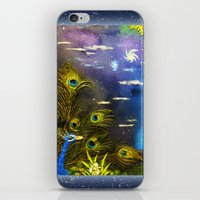Peacock Night iPhone & iPod Skin