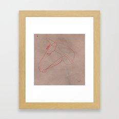 One line Horse 12 Framed Art Print