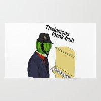thelonious monk-fruit Rug