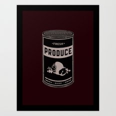 Fresh Canned Produce Art Print