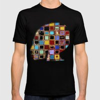 Living In A Box (global)… Mens Fitted Tee Black SMALL