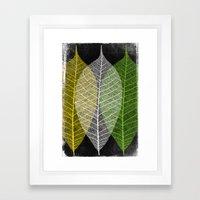 'Natural Dry Leaves' Framed Art Print