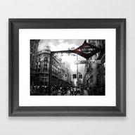 Gran Via-Madrid Framed Art Print