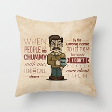 Ron Swanson 6 Throw Pillow