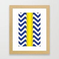 George Summer Chevron Framed Art Print