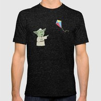 SW Kids - Yoda Kite Mens Fitted Tee Tri-Black SMALL