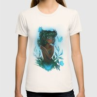 Maggie's Garden Womens Fitted Tee Natural SMALL