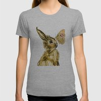 Bunny Spring Love Easter… Womens Fitted Tee Athletic Grey SMALL
