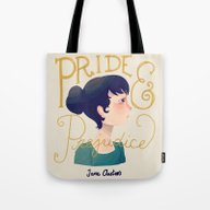 Tote Bag featuring Pride And Prejudice by Nan Lawson
