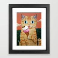 ICE-CREAM AND MORE Framed Art Print