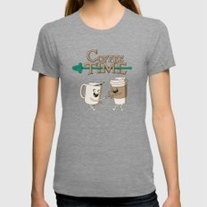 Coffee Time! Womens Fitted Tee Tri-Grey SMALL
