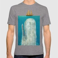 The Whale  Mens Fitted Tee Tri-Grey SMALL