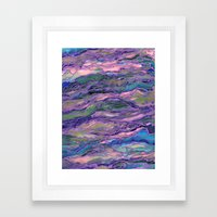 MARBLE IDEA! LAVENDER PINK PEACH Abstract Watercolor Painting Colorful Geological Nature Marbled Art Framed Art Print
