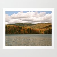 Vermont Lake Art Print