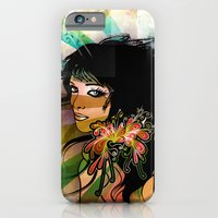 floral girl iPhone 6 Slim Case