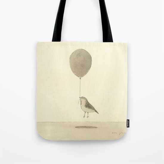 bird with a balloon Tote Bag