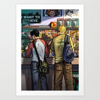 William And Theodore 05 Art Print