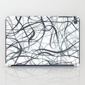 curvy gray & black iPad Case