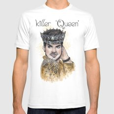 Killer Queen White SMALL Mens Fitted Tee