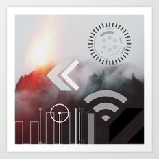 Digital World Takeover Art Print
