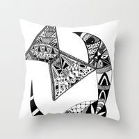 Rhino Horn Throw Pillow