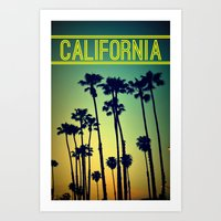california Art Prints featuring CALIFORNIA by RichCaspian