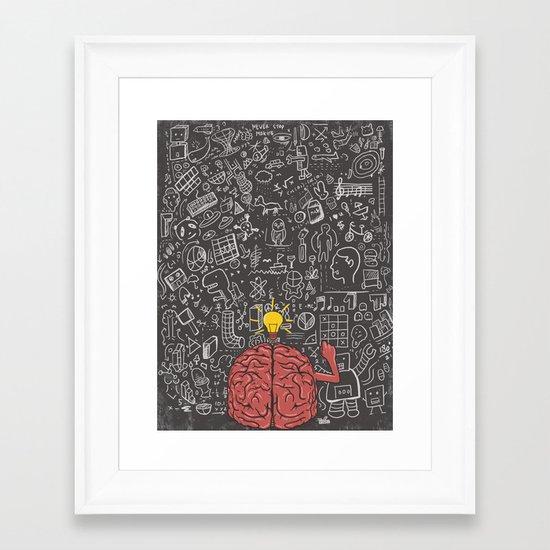 My Brain Won't Stop Framed Art Print