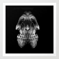 Art Print featuring Skully by LocalMadMAn